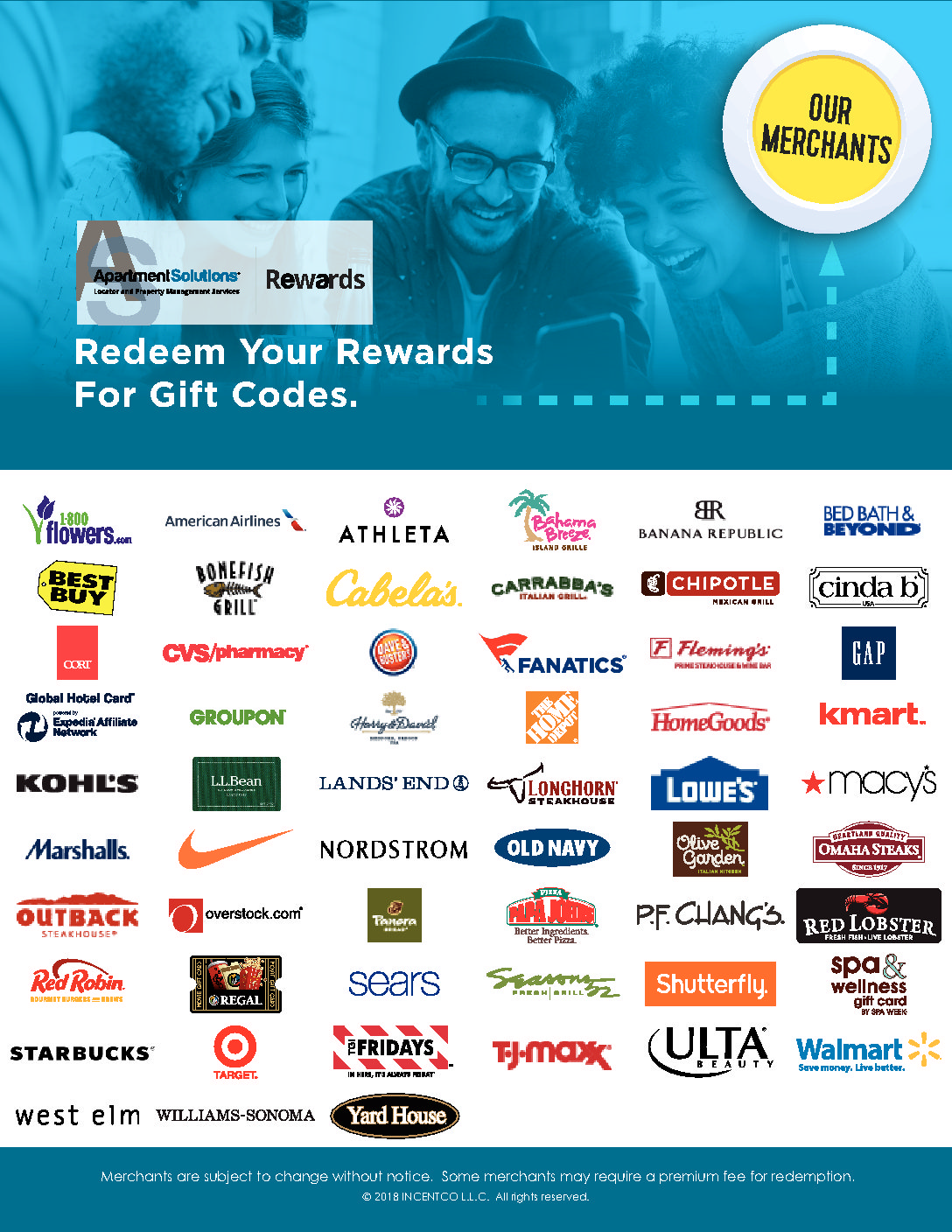 Apartment Solutions Rewards!